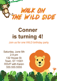 Printable lion birthday party invitation - Celebrating Together