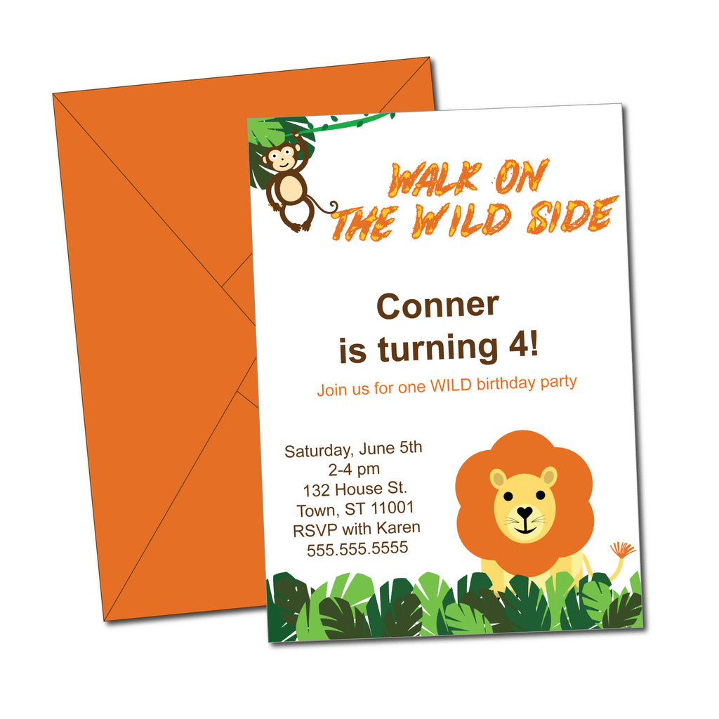 DIY safari birthday invitations - Celebrating Together