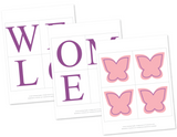 diy butterfly welcome baby girl banner - Celebrating Together