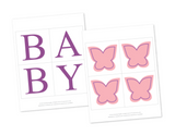 printable baby banner for butterfly baby shower - Celebrating Together