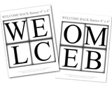 Printable pages for welcome banner - Celebrating Together