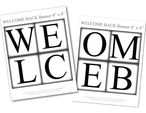 graphic relating to Welcome Banner Printable identify Printable Welcome Back again Banner