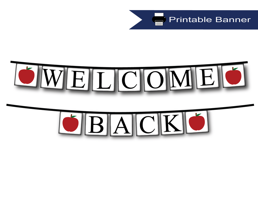 picture relating to Welcome Back Banner Printable identify Printable Welcome Back again Banner