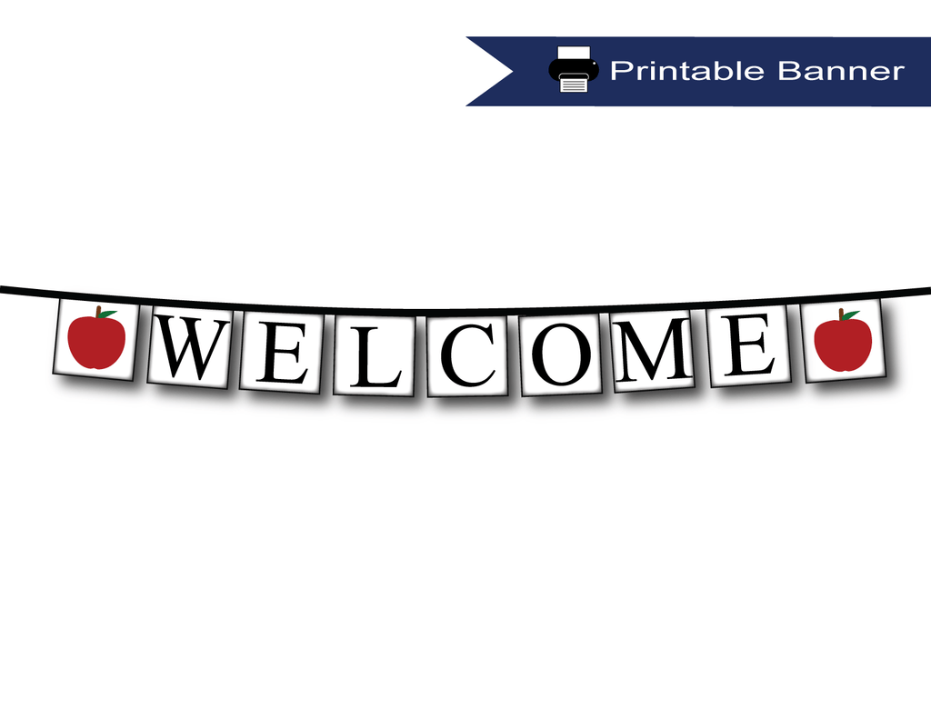 photograph about Printable Banner titled Printable Welcome Banner