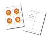 Printable lion birthday party banner - Celebrating Together