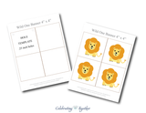 Printable lion birthday banner - Celebrating Together