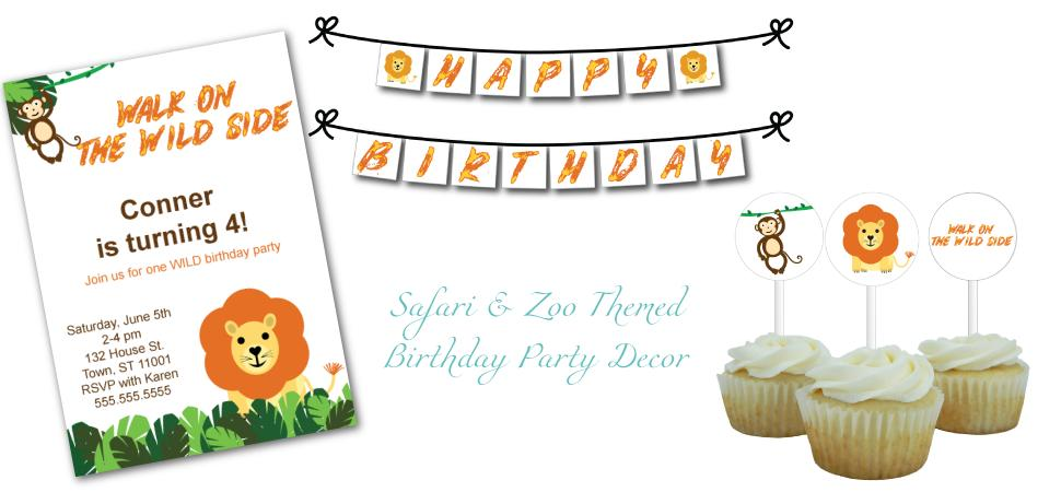 Safari Birthday Party Decorations - Celebrating Together