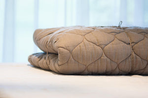 Natural Gray Wool Filled Linen Comforter