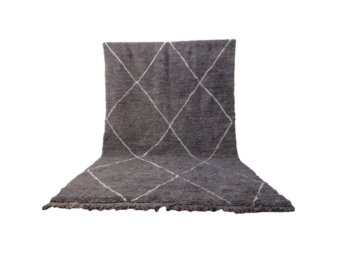 Gray and White Diamond Beni Ourain Rug