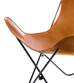 Vaqueta Whiskey Brown Leather Butterfly Chair