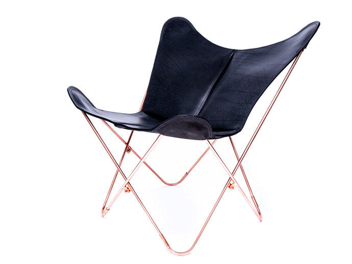 Thick Leather Butterfly Chair - Tanguero Black