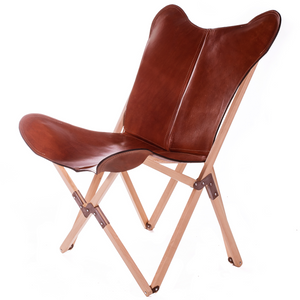 Tripolina Malbec Wood Butterfly Chair