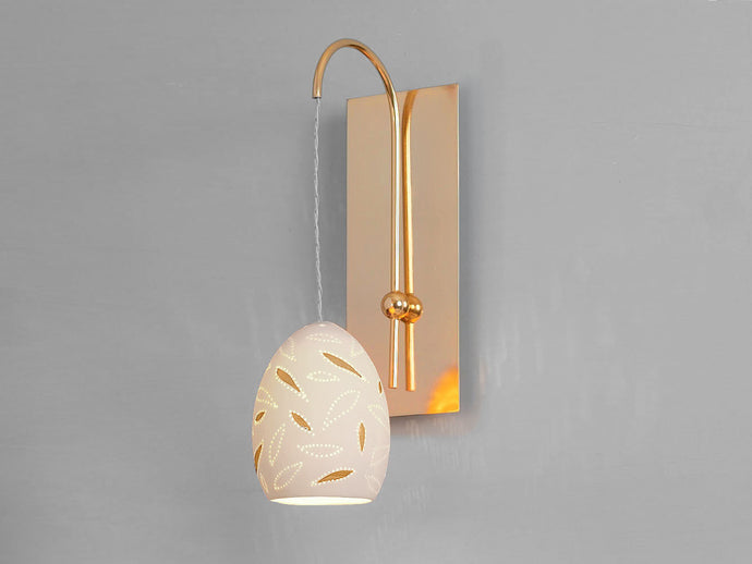 Gold Leaf Pendant Wall Sconce