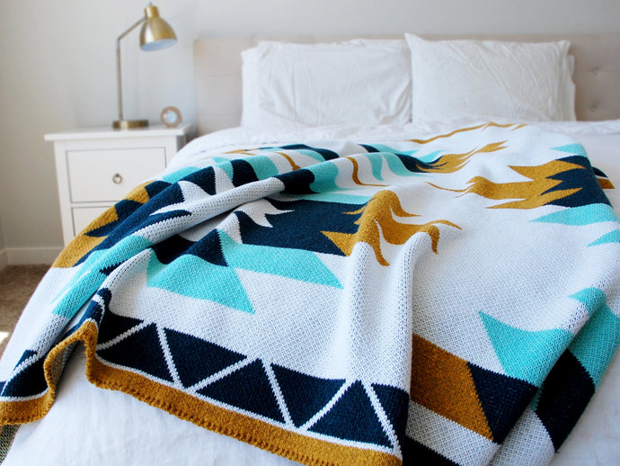 Recycled Cotton Throw Blanket - Sedona