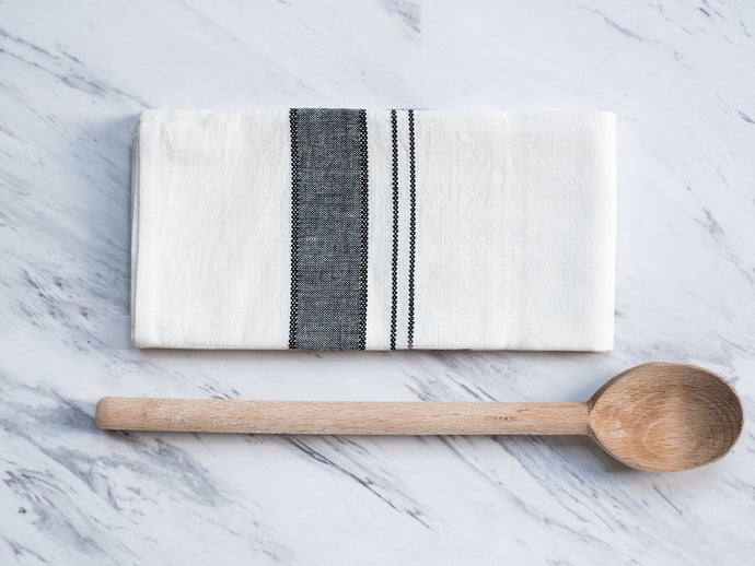 Natural Hand-Spun Cotton Kitchen Towels - Set of 2