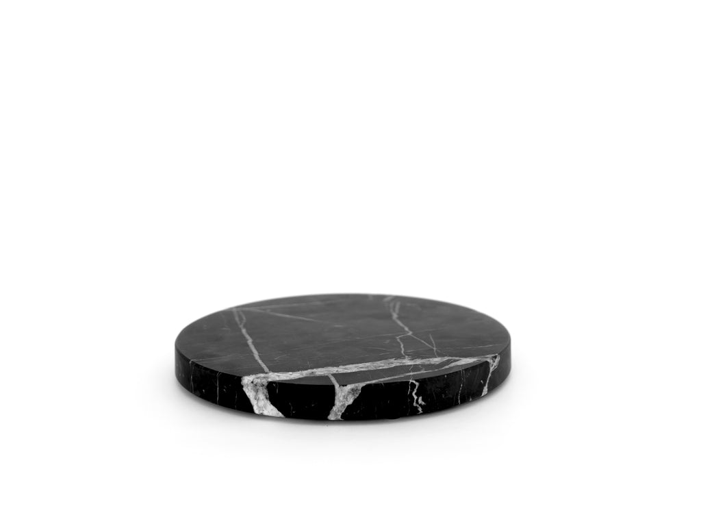 Black Round Marble Serving Board