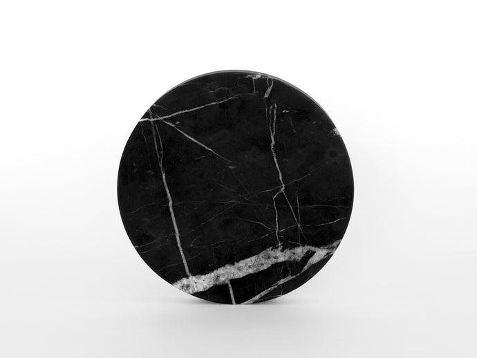 Matte Black Round Marble Serving Board