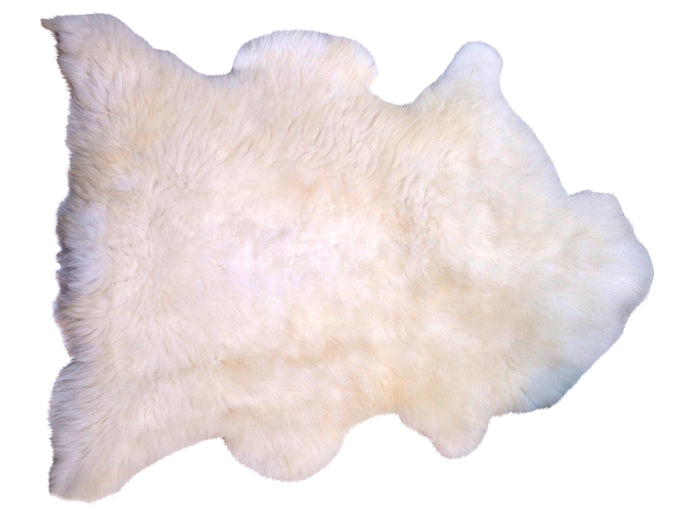 Large Natural Sheepskin - White