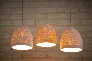 Cratered Ceramic Pendant Lights