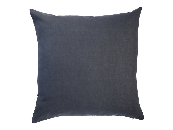Dark Gray Linen Pillow