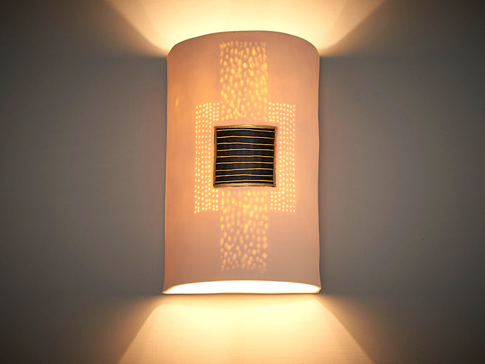 Gold Black Square Wall Sconce