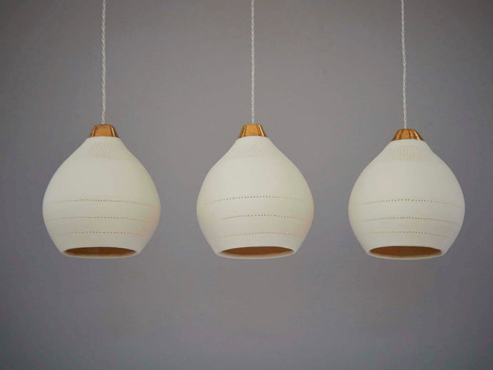Gold Tip Ceramic Pendant Lights