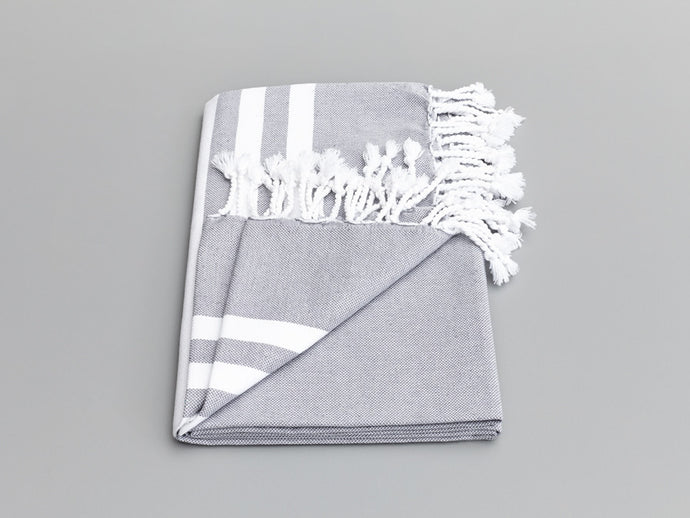 Esra Smoke Gray Turkish Towel