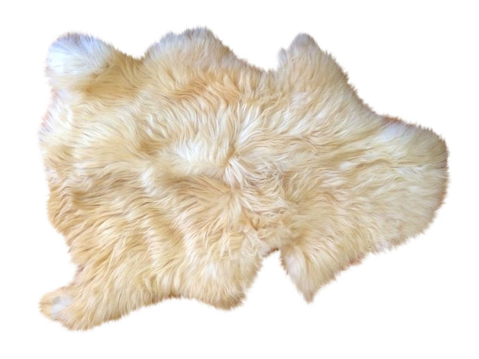 Large Natural Sheepskin - Ivory Golden
