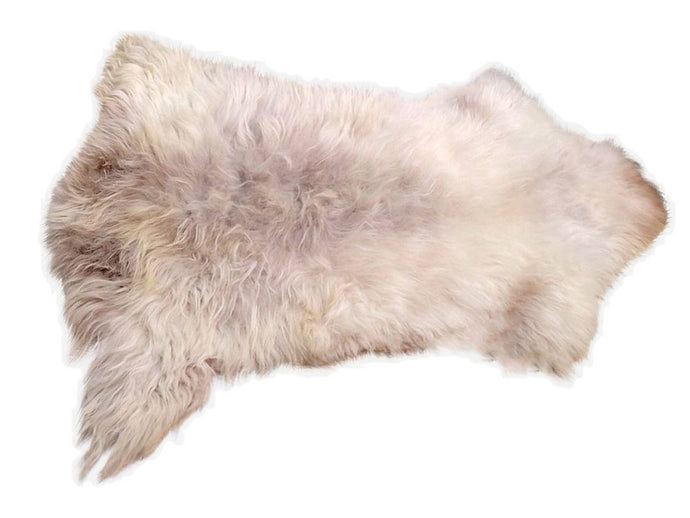 Large Natural Sheepskin - Boho Ivory Gray