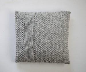 Light Gray Elena Knitted Pillow