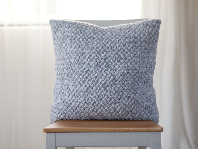 Elena Knitted Pillow Cover - Light Gray