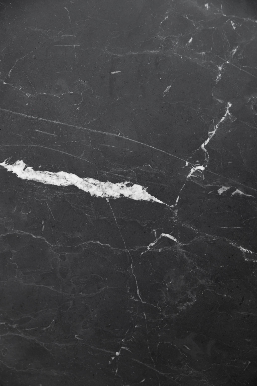 Matte Black Marble Serving Board