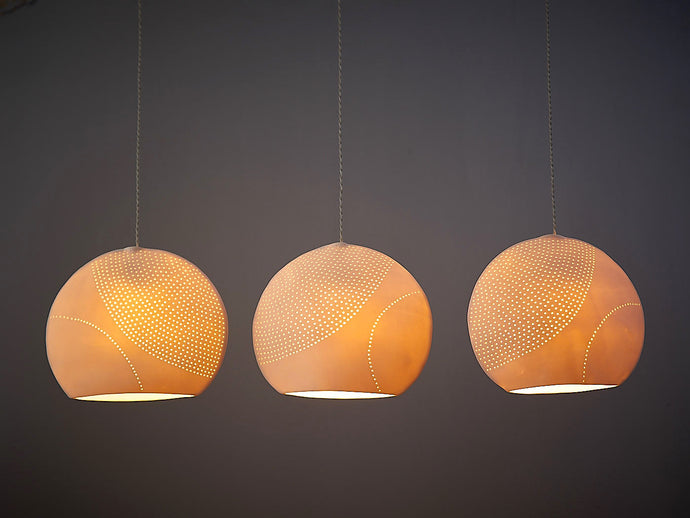 Round Dotted Ceramic Pendant Lights