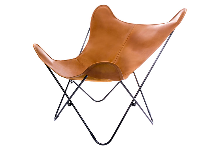 Leather Butterfly Chair - Whiskey Brown