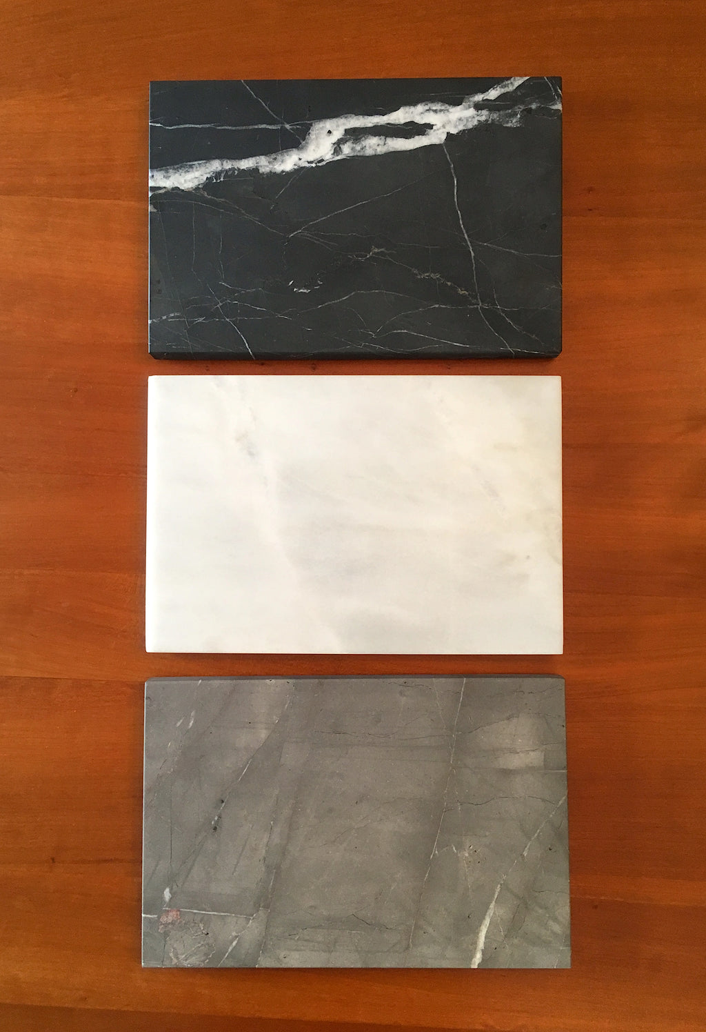 Matte Gray Marble Serving Board