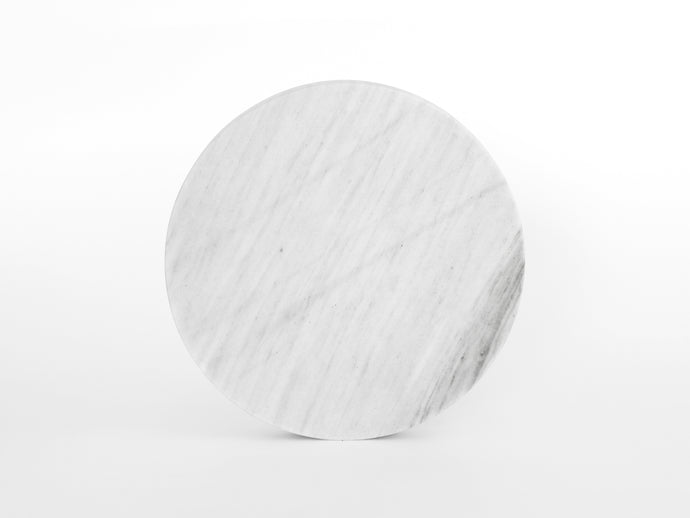 White Round Marble Serving Board