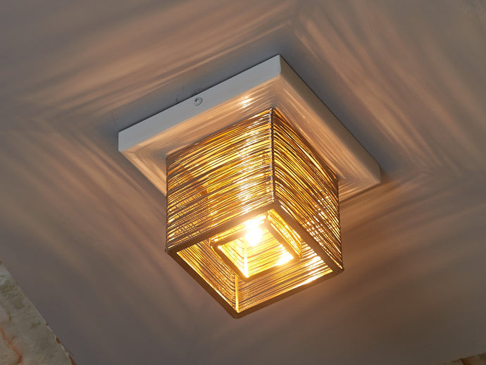 Double Cube Modern Ceiling Light
