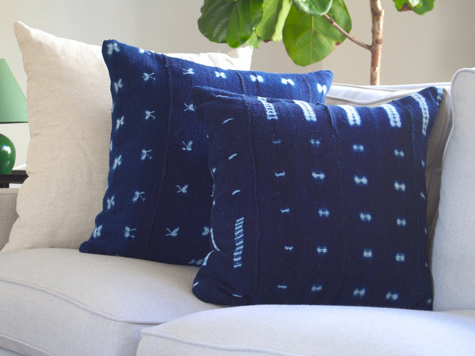 Mudcloth Pillow Cover - Bogolanfini Indigo
