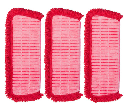 QuickMop™ Set of 3 3-in-1 Replacement Microfiber Pads by Campanelli Products