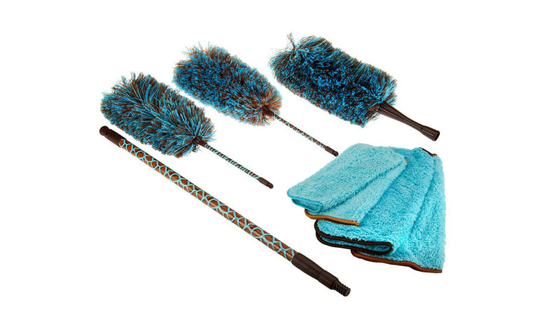 8-Piece Safari Microfiber Dusting Kit by Campanelli Products