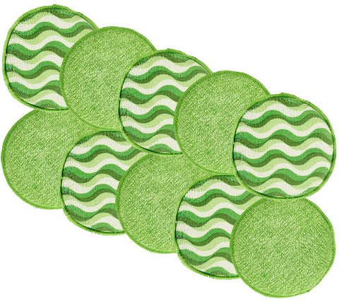 10pc Round Dual Sided Microfiber / DiamondFiber® Cleaning Sponges