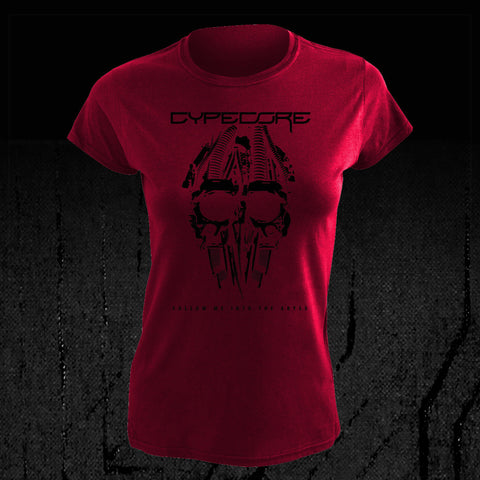 "Design Girlie Shirt ""Cypeskull"" Wine Red"