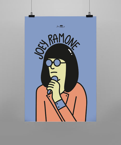 Rock Cartoon - Joey Ramone
