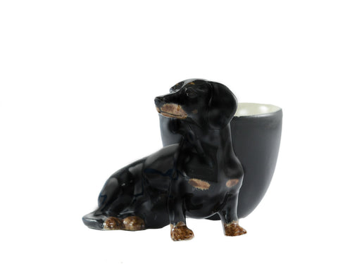 Dachshund Black and Tan Egg Cup