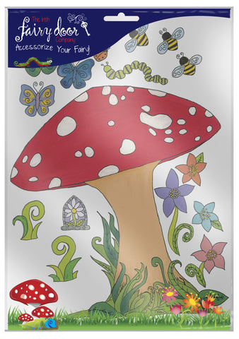 Fairy Door Sticker Set - Toadstool