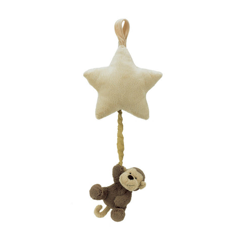 Bashful Monkey Star Musical Pull