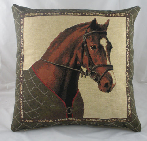 Brown Horse Cushion