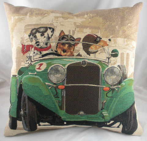 Wacky Races Dogs Cushion - Green