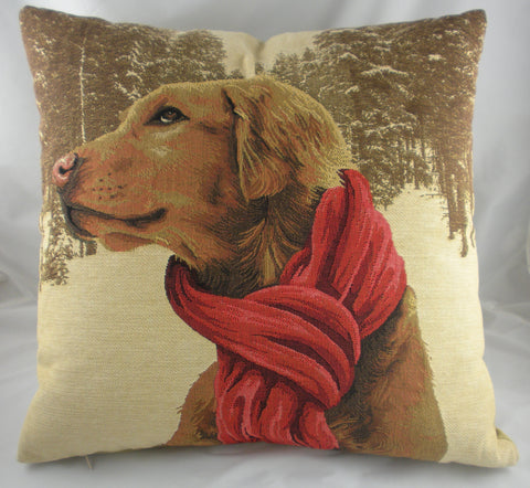 French Gun Dog with Scarf Cushion