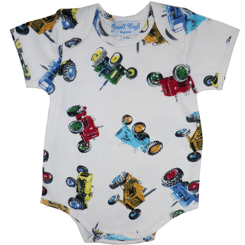 Tractor Baby Grow